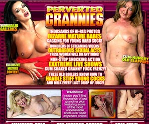 Perverted Grannies - Bizzare Mature Babes Gagging for Young Hard Cocks